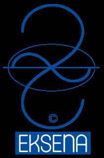 Krivulja vrednotenja je logotip Izobraževalnega centra Eksena in simbol Teorije Eksen